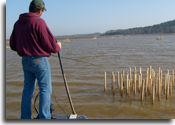 Bugman fishing stake beds Grenada Lake, MS 2008